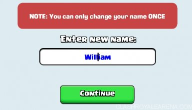 Colored Name in Clash Royale