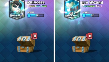 Legendary Cards from Free Chests in Clash Royale