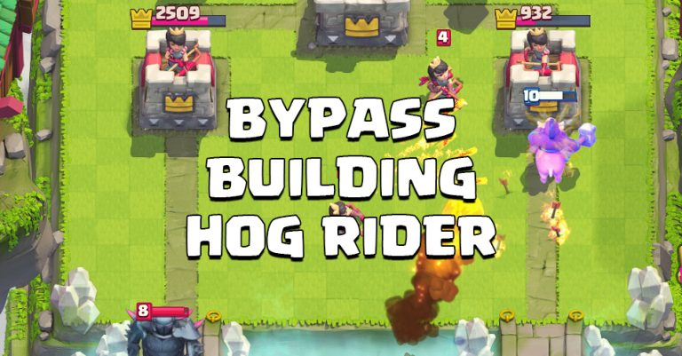 Bypass Buildings with Hog Rider