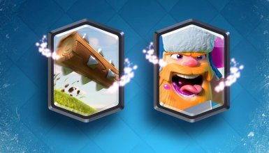 The Log and Lumberjack New Legendary Cards Clash Royale