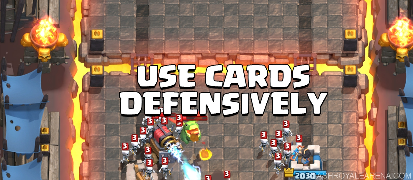 use cards defensively
