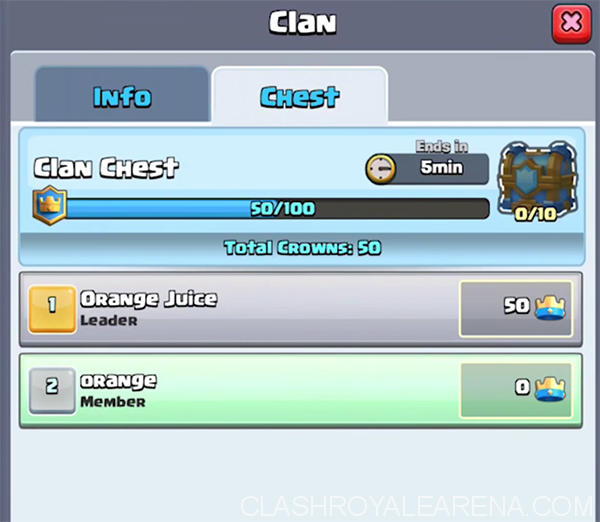 clan chest menu