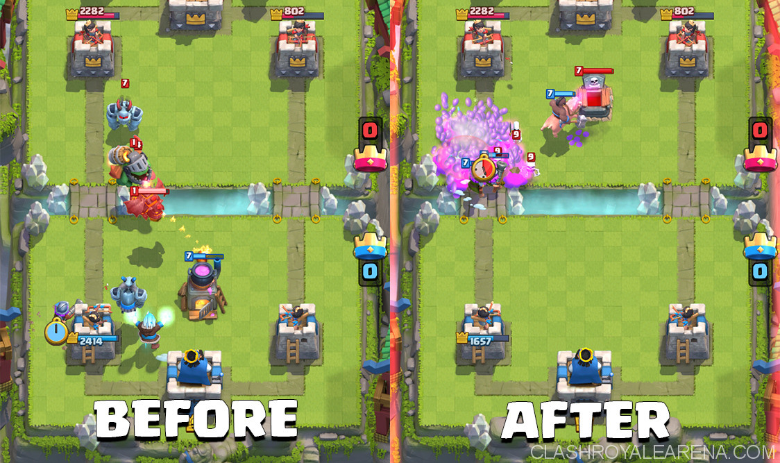 counter push with ice wizard