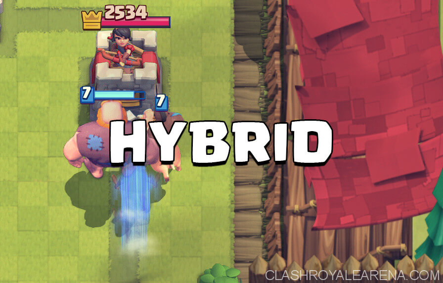 hybrid deck clash royale