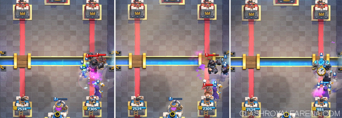 double witches vs mega knight