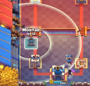 mortar clash royale placements