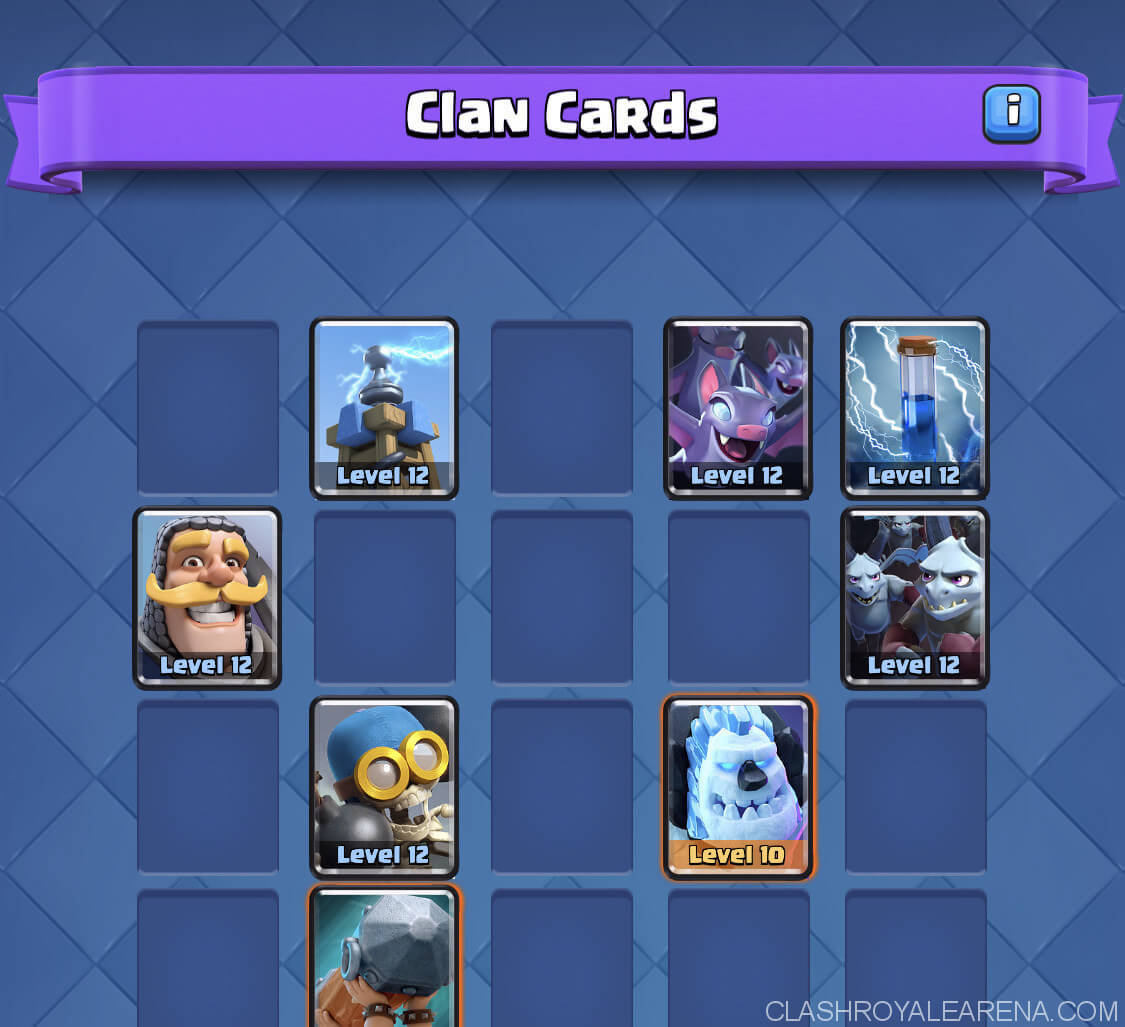 clash royale clan cards