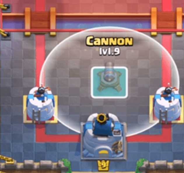 cannon placement