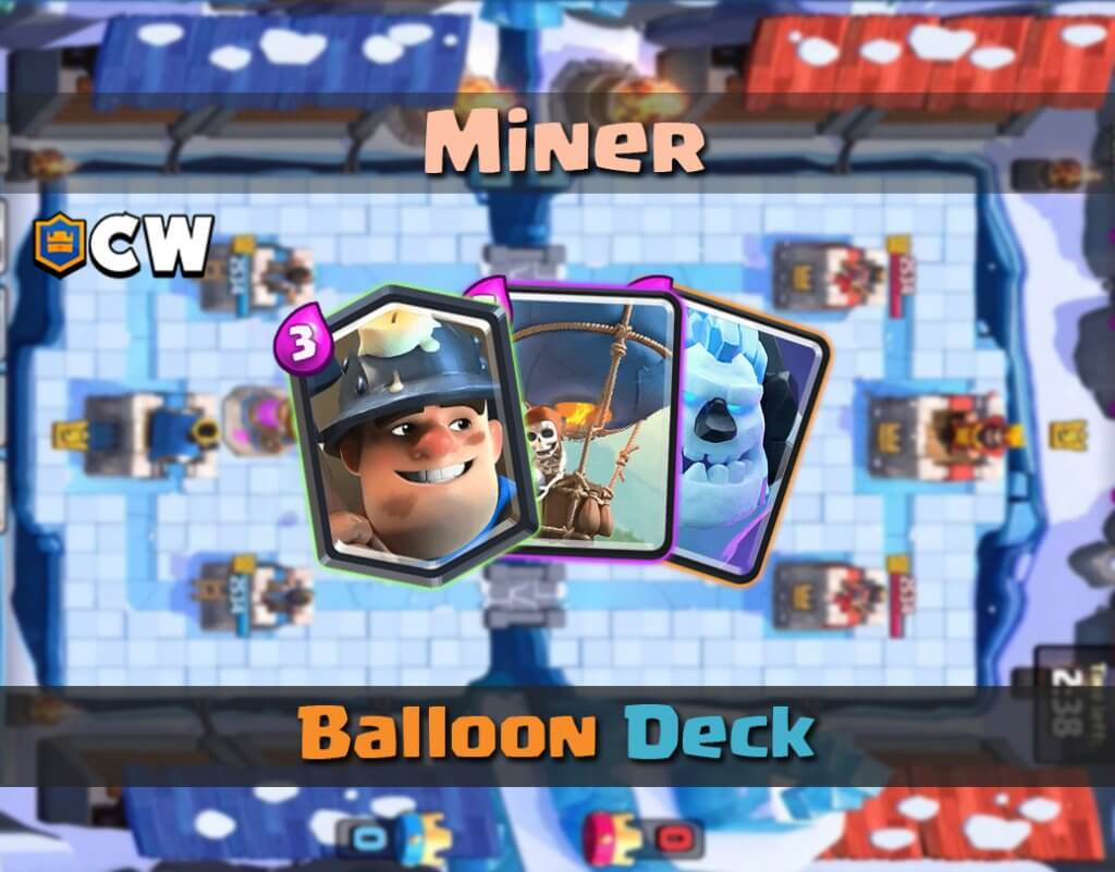 Miner balloon deck cover